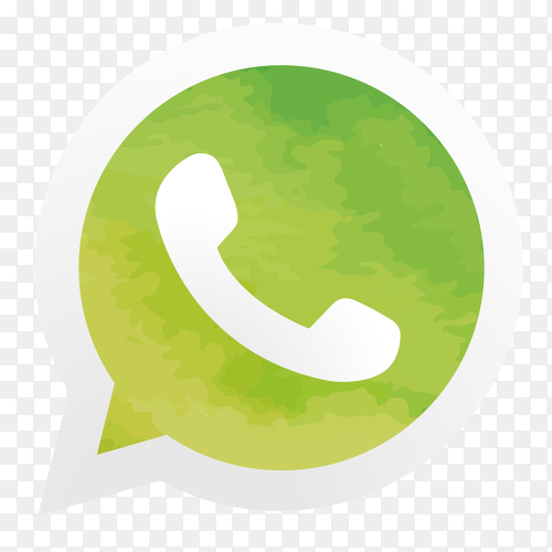 WhatsApp logo watercolor PNG