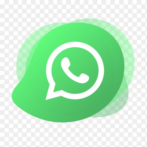 WhatsApp logo with liquid shape PNG
