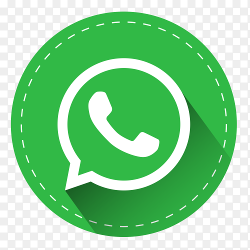 WhatsApp logo with shadow PNG