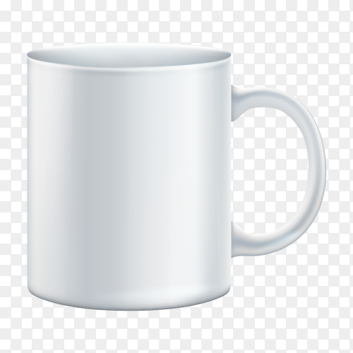 White Mug transparent PNG