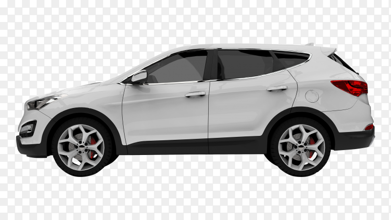 White premium car crossover SUV transparent PNG