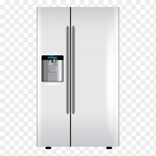 White refrigerator – fridge vector PNG