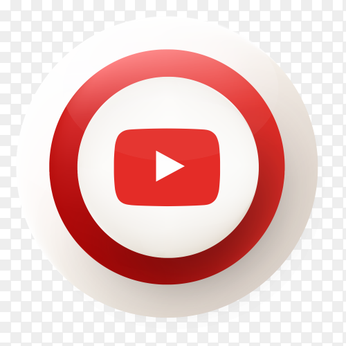 YouTube button design vector PNG