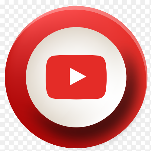 YouTube button new design PNG