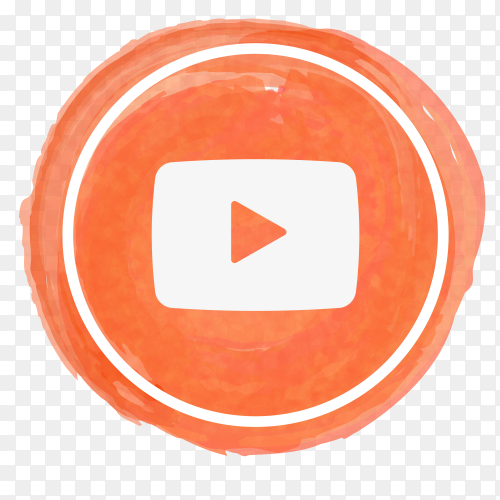 YouTube icon watercolor PNG