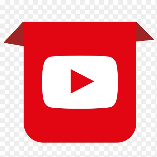 YouTube logo drop down PNG