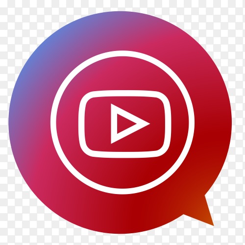 YouTube logo form poi PNG