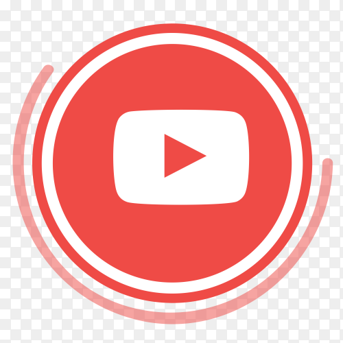 YouTube logo in circles PNG