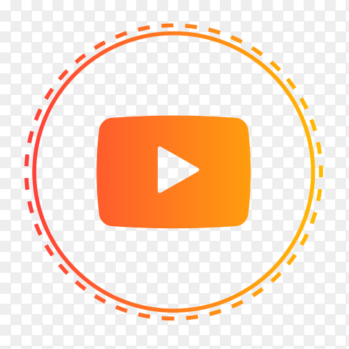 YouTube logo in points circle PNG