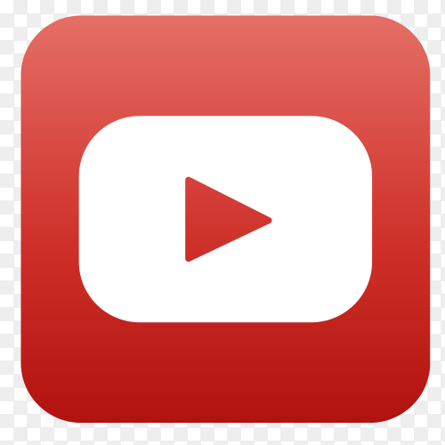 YouTube logo in square shape PNG