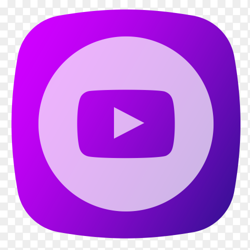 YouTube logo purple PNG
