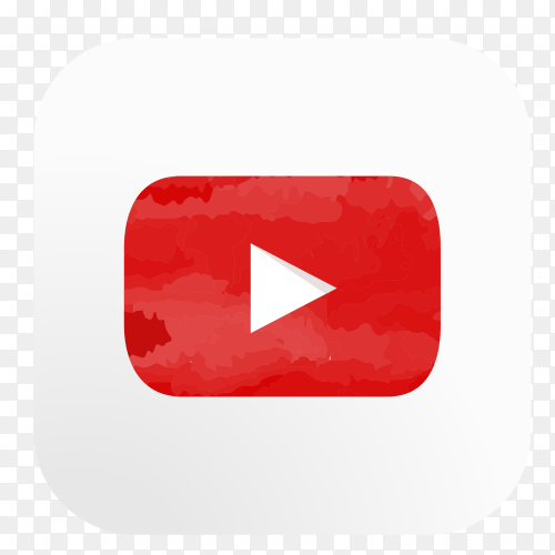 YouTube logo watercolor PNG