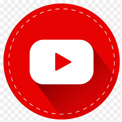 YouTube logo with shadow PNG