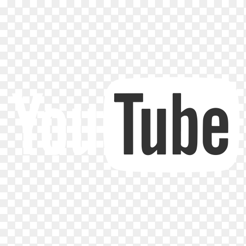 Youtube logo with gray flat design PNG