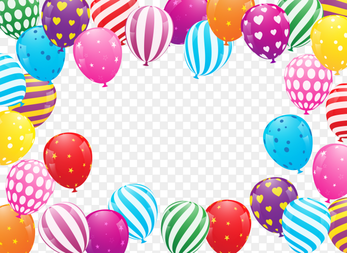 Colorful balloons PNG