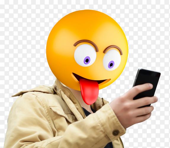 Emoji Head Man PNG