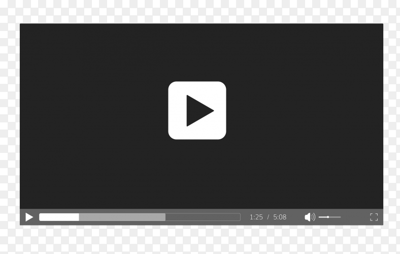 Flat video player PNG