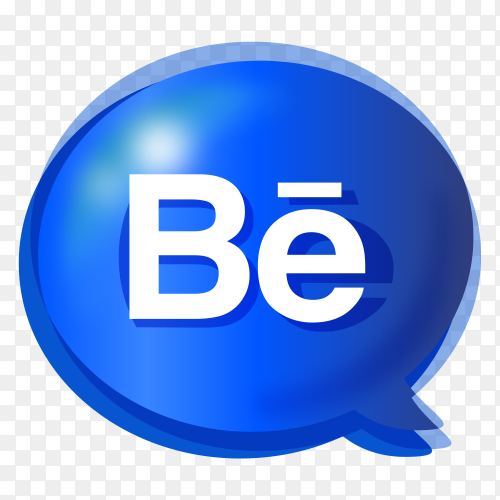 Gradient logo Behance PNG