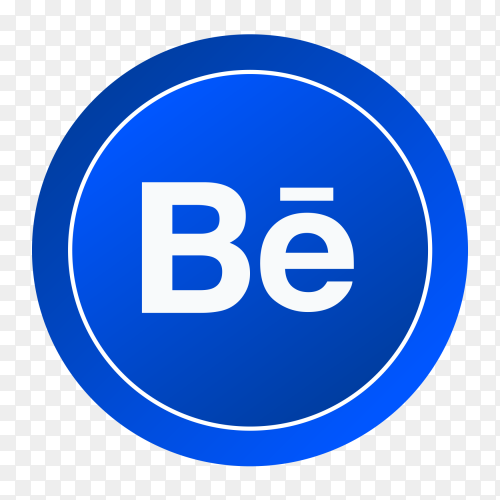 Gradient logo Behance social media icon PNG