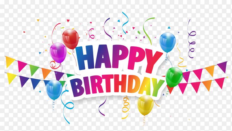 Happy birthday balloons celebration PNG