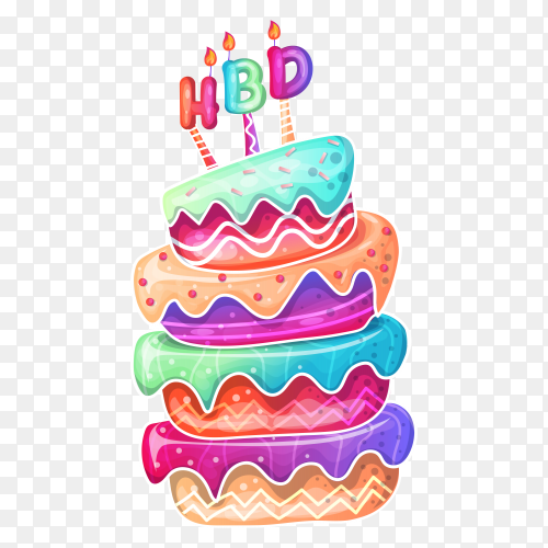 Happy birthday cake cartoon PNG