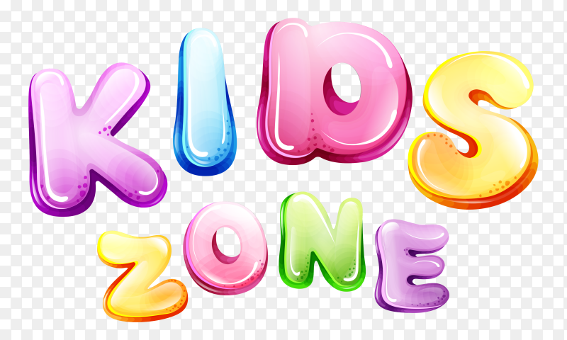 kids zone word PNG