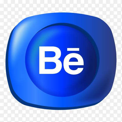 Logo Behance gradient social media icon PNG