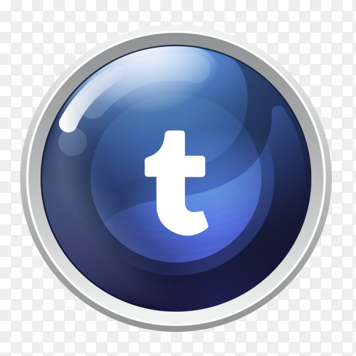 Logo Tumblr button social media PNG