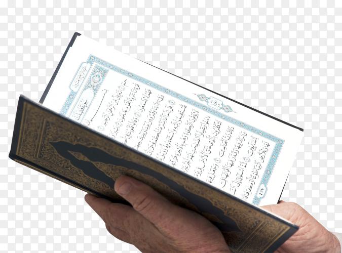 Muslim reading Holy Quran transparent PNG