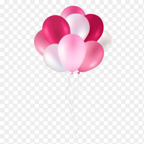 Pink balloon PNG