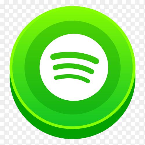 Realistic Spotify logo social network PNG