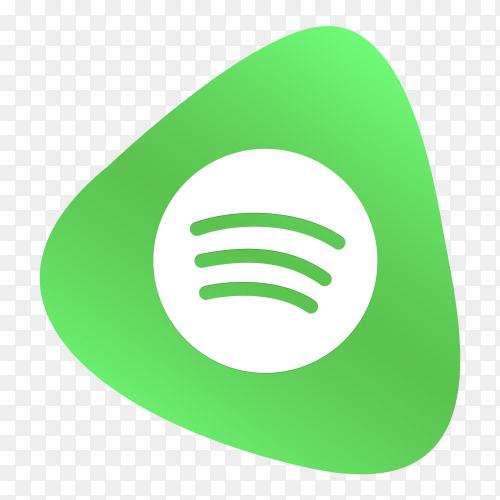 Spotify logo button social media PNG