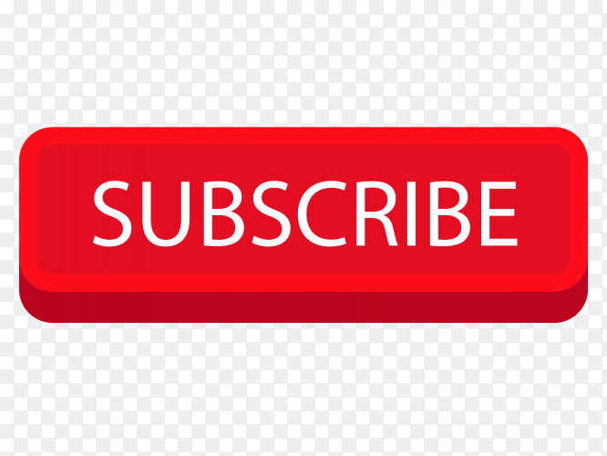 Subscribe 3d button youtube PNG