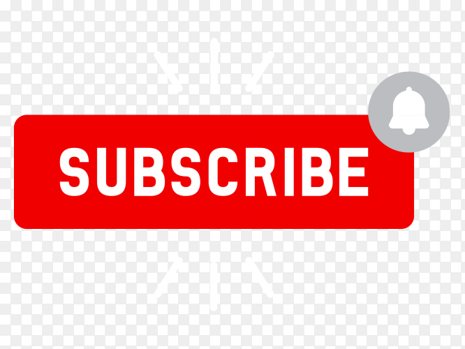 Subscribe red button YouTube PNG