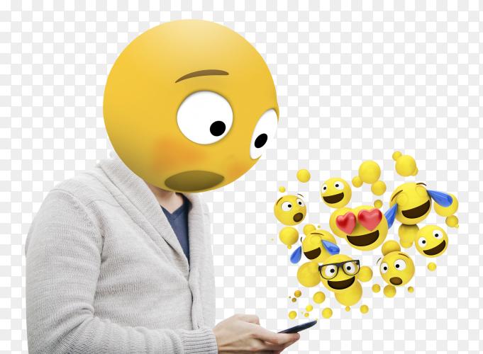 Surprised emoji london PNG