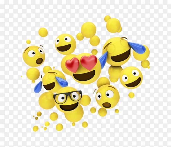Surprised emojis PNG