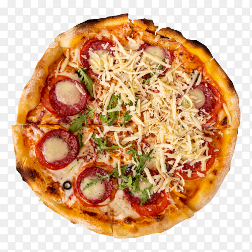 Top view pizza PNG
