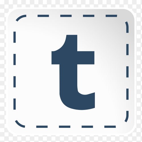 Tumblr logo icon social media sticky paper PNG