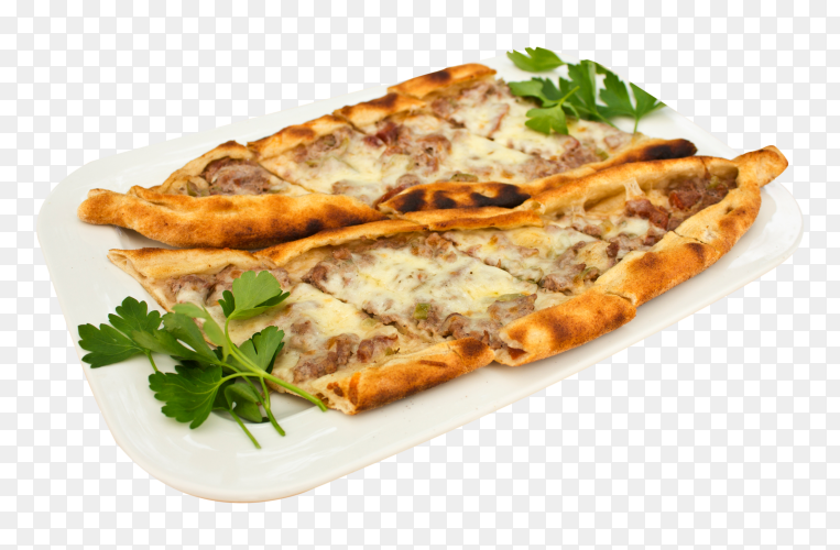 Turkish tortilla pita with pieces meat PNG