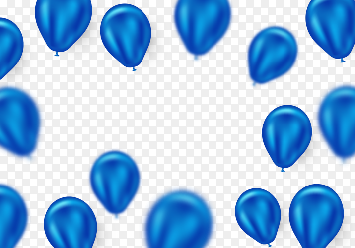 Virtual blue helium balloon PNG
