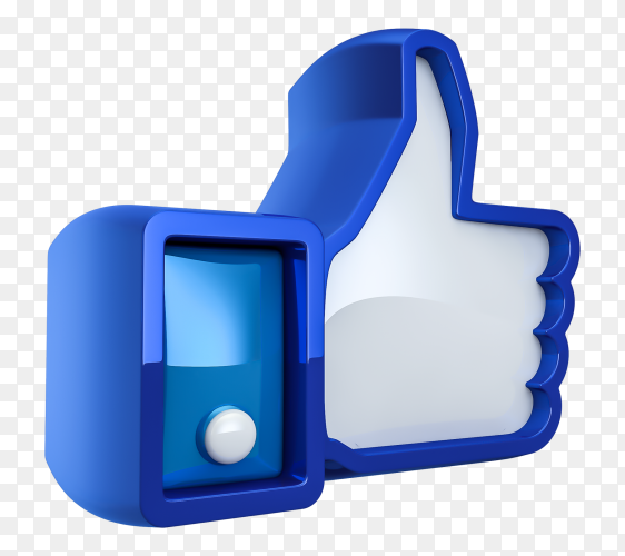 3D Facebook like premium PNG