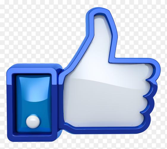 3D Facebook like premium image PNG