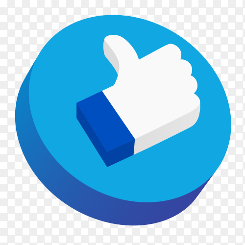 3D Like button PNG