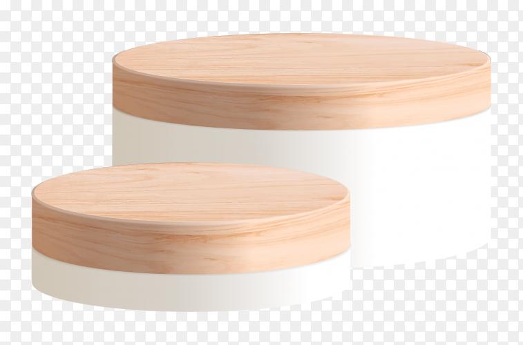 3D Podium – product presentation – stage pedestal transparent PNG