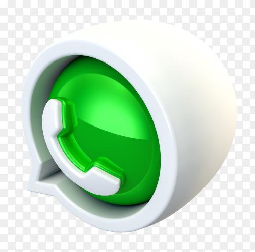 3D WhatsApp logo premium image PNG