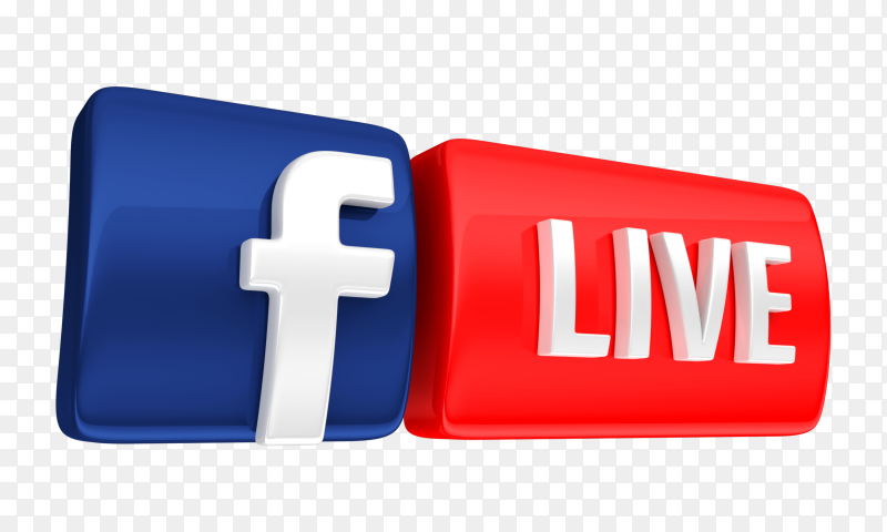 3D facebook live icon transparent PNG