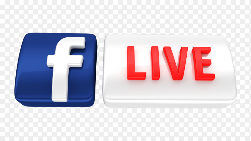 3D facebook live transparent PNG