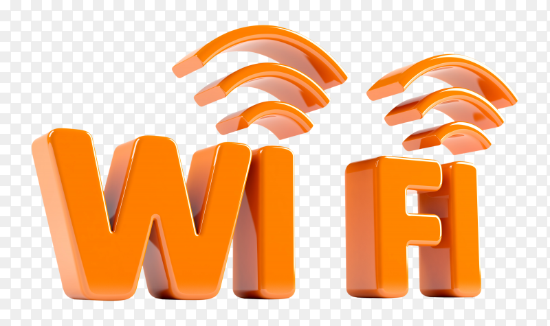 3D icon of wifi premium image PNG