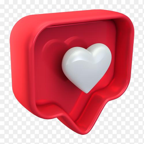 3D like instagram premium PNG
