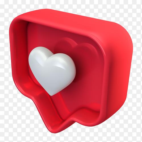 3D like instagram transparent background PNG